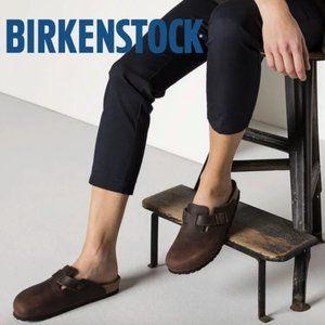 Birkenstock Clog Boston Soft Footbed Brown Leather
